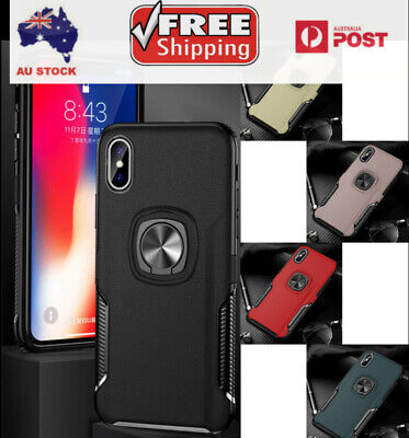 AU6.99 • Buy Shockproof Case With Rugged Ring Stand For IPhone X Series And Samsung Series