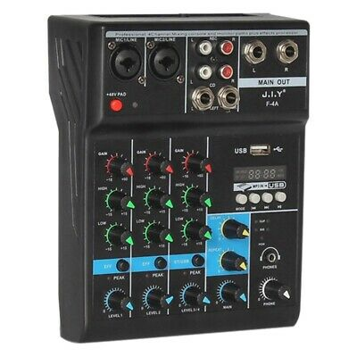 £33.99 • Buy Portable Audio Mixer Professional 4 Channel Bluetooth Mixer DJ Console WithPorta