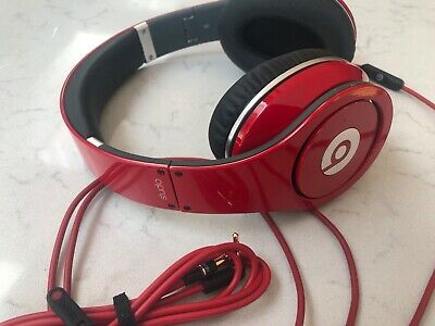 £40 • Buy Original Beats By Dr. Dre Studio Over Ear Wired Red And Black Headphones