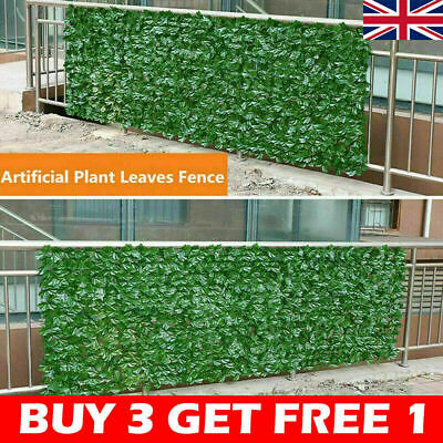 £4.51 • Buy Artificial Faux Ivy Leaf Hedge Panels Roll Privacy Screening Garden Fence Dec+UK