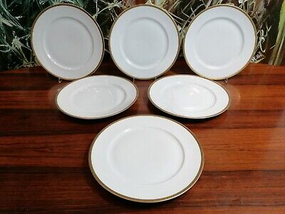 £56.46 • Buy Rosenthal Germany, 6 Classy Dining Plate White With Golden Rim Ø 25cm