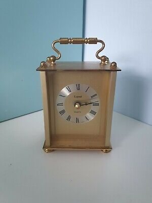 £12.99 • Buy Legend Germany Brass Golden Finish Quartz Carriage Clock With Battery Movement