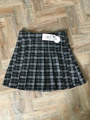 £0.01 • Buy Stradivarius Black & White Check Pleated Mini Skirt Small Brand New With Tags