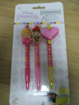 £1 • Buy Disney Princess Character Pens X 3 - Brand New In Sealed Packet