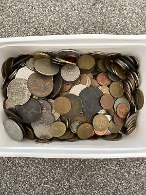 £100 • Buy Over 100 Assorted Foreign Coins, Old And Current! Bulk Lot
