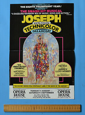 £2 • Buy Small Poster For ' Joseph ... Technicolour ... Dreamcoat ' At Manchester Op. Hse