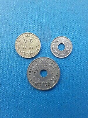 £2.99 • Buy 1/10;1penny;1 Shilling  British West Africa 1920,1923...
