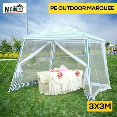 AU81.36 • Buy Mountview Pop Up Marquee Gazebo 3x3m Outdoor Canopy Wedding Tent Mesh Side Wall