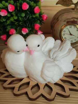 £28.05 • Buy 3D Silicone Mold A Pair Of Doves For Soap, Candles, Gypsum