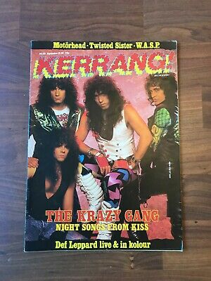 £9.99 • Buy Vintage KERRANG! Music Magazine. #155 - KISS Feature. With Posters VGC