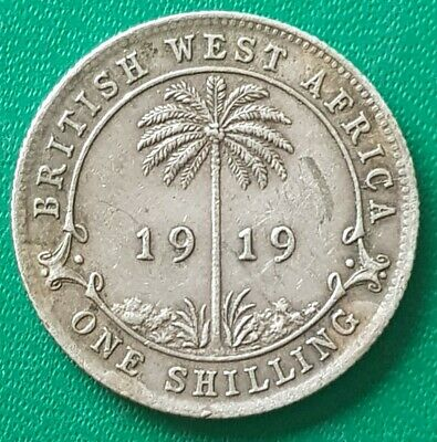 £50 • Buy 1919 British West Africa George V One Shilling Coin