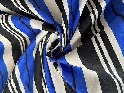£6.50 • Buy Thick Stripes Classic Print Cotton Stretch Fabric
