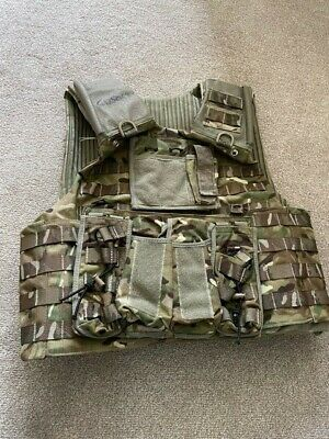 £40 • Buy BRITISH ARMY SURPLUS MTP VEST OSPREY MK4 ARMOUR PLATE CARRIER With Pouches