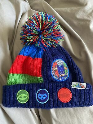£2 • Buy PJ Masks Bobble Hat Age 3-6 Years Blue Green Red Official Merch