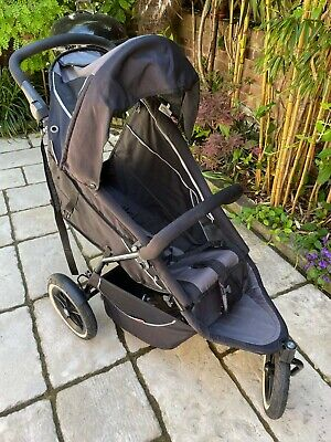 £225 • Buy Phil And Teds Sport 3 Wheel All Terrain Pram & Carry Cocoon - Black