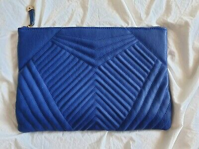 £6 • Buy Royal Blue And Gold Oversized Clutch Bag (New Look)