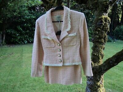£40 • Buy Chanel Style Ladies Suit - Size 8/10. Peach Colour Made And Purchased In France.