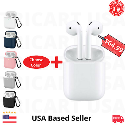 $ CDN78.93 • Buy Apple AirPods 2nd Generation Wireless Earbuds With 6 In 1 Acessoories Bundle