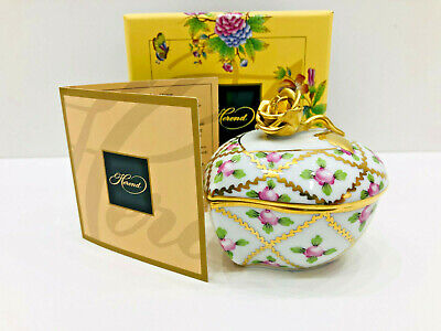 £261.34 • Buy Herend Sprog Small Heart Box,richly Gilded,brand New Boxed,master Piece Signed