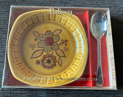 £5.95 • Buy Vintage Royal Worcester Palissy Sierra - Small Preserve Jam Dish And Spoon Boxed