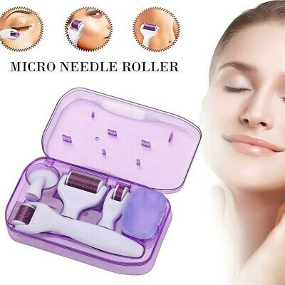 AU10.69 • Buy 6 In 1 Derma Roller Titanium Needle Skin Care Kit Micro Needle For Face And Body