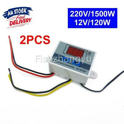 AU13.99 • Buy 2x Digital LED Temperature Controller Thermostat Control Switch Probe Waterproof
