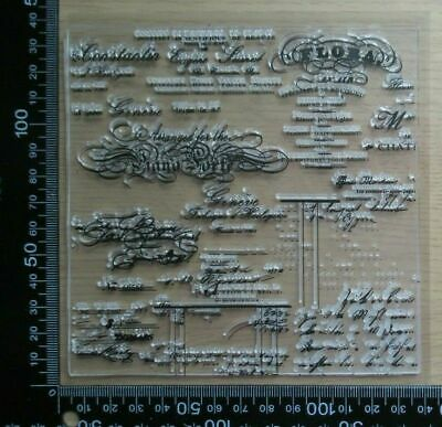 £3.99 • Buy Clear Acrylic Unmounted Stamp - Vintage Handwrinting / Script Background