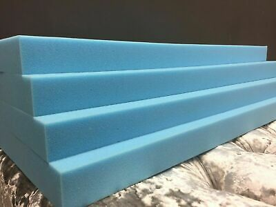 £0.99 • Buy Upholstery Cushion BLUE FOAM HIGH DENSITY Bespoke Cutting Any Size Any Thickness