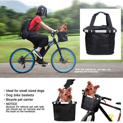 £17.31 • Buy Bicycle Pet Carrier Basket Bag Small Dog Cat Bike Front Carrier Portable