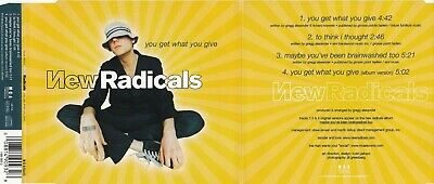 £0.86 • Buy New Radicals - You Get What You Give (4 Track Maxi CD)