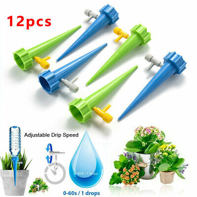 £5.55 • Buy 12x Cone Automatic Drip Irrigation Garden Plant Water Bottle Set Watering Spike