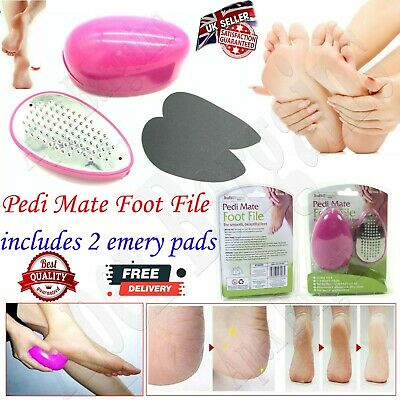£4.95 • Buy Rysons Pedi Mate Egg Foot File For Smooth Beautiful Feet With Two Emery Pads New