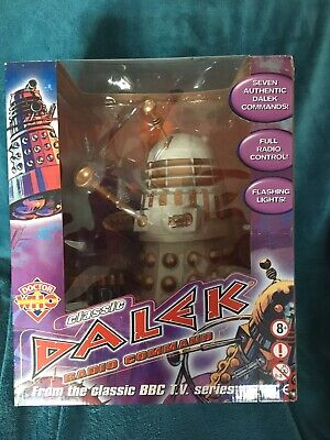 """£139.99 • Buy BBC Doctor Who Classic Radio Command Dalek Grey/Gold 12"""" Boxed"""