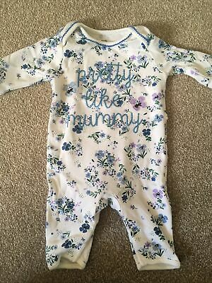 £3 • Buy Debenhams Bluezoo Baby Girl Footless Floral Embroidered Sleepsuit 0-3 Months