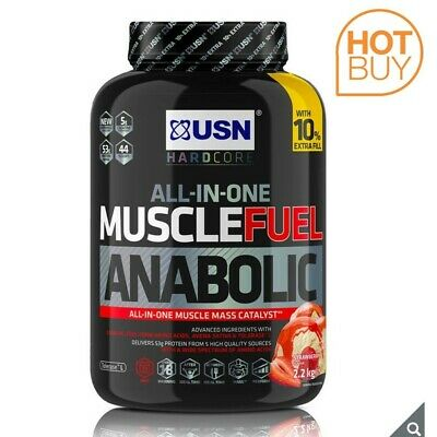 £28.40 • Buy USN Muscle Fuel Strawberry Anabolic Powder, 2.2kg - Free Delivery