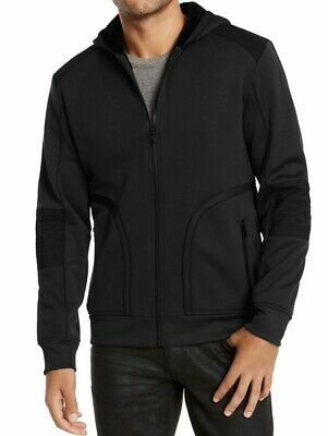 £5.67 • Buy INC Mens Jacket Black Size XL Overbound Faux-Fur Lined Hooded Zip $99 #277