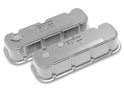 $400.95 • Buy Holley Aluminum Tall M/T Valve Covers Polished For Big Block Chevy Engines