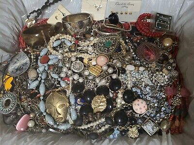 $ CDN18.88 • Buy 8LB+ Mixed Craft Jewelry Parts Lot Vintage/Now Necklaces Bracelets Pins & Rings
