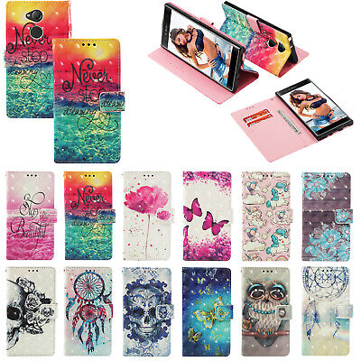 AU6.89 • Buy 3D Pattern PU Leather Flip Wallet Case Phone Cover For Sony Xperia 20 10 L3 XA2