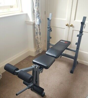 £50 • Buy Foldable BodyMax Weight Bench Barbell Adjustable Full Body Exercise Setup Good C