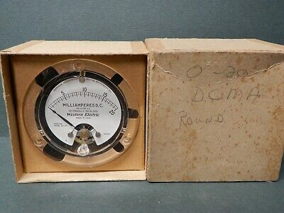$25 • Buy Western Electric Beautiful Clear Bezel 20mA Panel Meter NOS