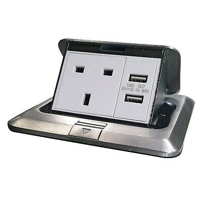 £48.99 • Buy Pop Up Floor Electrical Outlet Kitchen Countertop Waterproof Sockets Pop Out ...