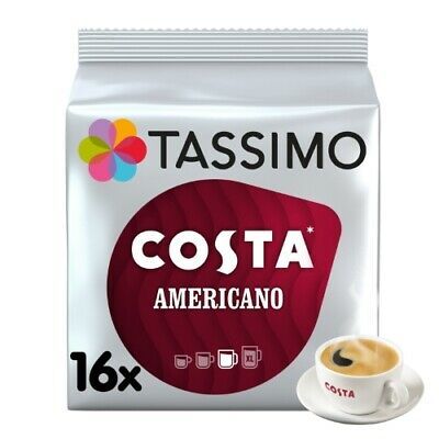£22.45 • Buy Tassimo Costa Americano Pack Of 5 (Total Of 80 Coffee Pods)