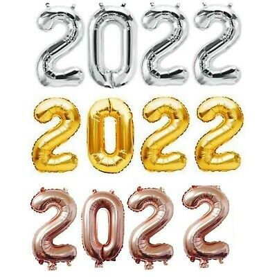 £4.99 • Buy 32'' Happy New Year 2022 Balloons New Year Eve Hanging Banner Party Decoration