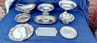 £4.99 • Buy A Job Lot Of Antique Silver Plated Fruit Dishes With Elegant Patterns.