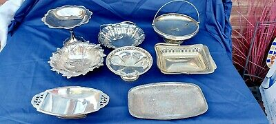 £4.99 • Buy A Job Lot Of Antique Silver Plated Fruit Dishes With Elegant Patterns