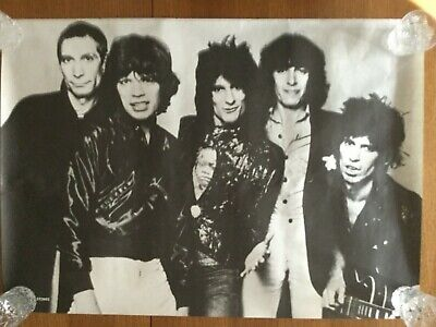 £18.99 • Buy Rolling Stones  Promotional Poster Issued By Toshiba Emi Black And White Photo
