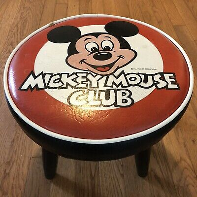 £28.95 • Buy Vintage 1960's Walt Disney Mickey Mouse Club Foot Stool Collectible Chair 10