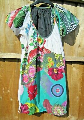 £2.99 • Buy Lovely Desigual Short-sleeved Top Tunic T-shirt Size S / M