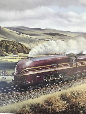 """£3.99 • Buy Barry J Freeman Steam Train Print """" The Days Of Red And Gold"""""""